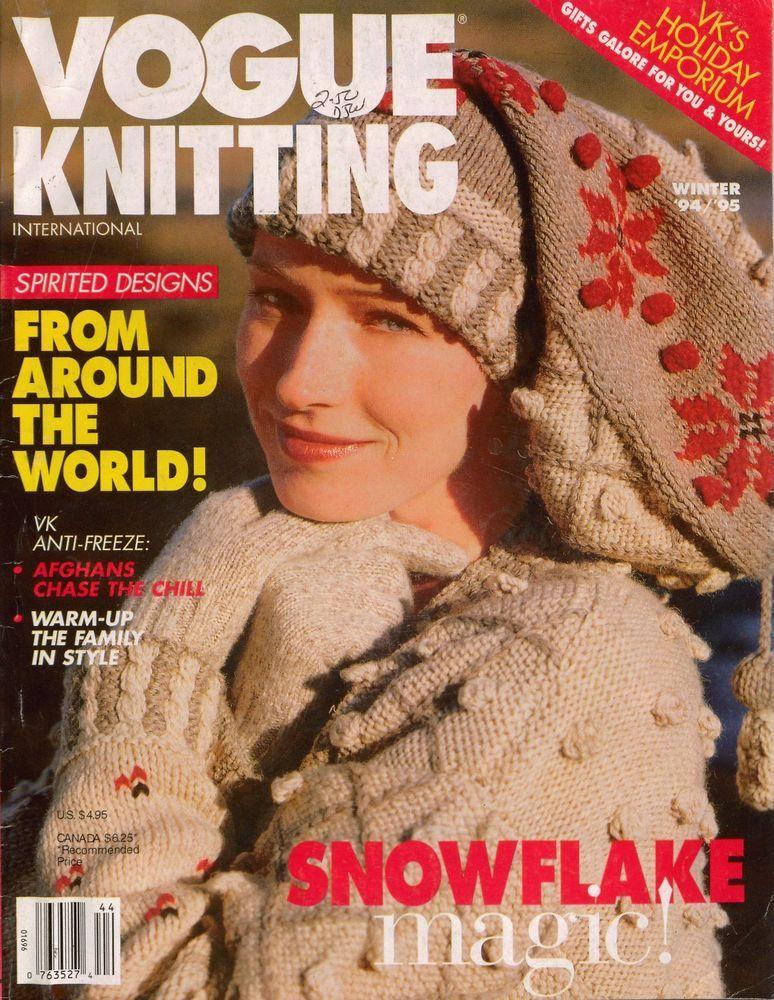 VOGUE KNITTING Winter 1994 1995 Nordic Snowflake Fair Isle Sweater ...