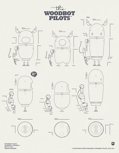 woodbot package design blueprint designchapel designspiration