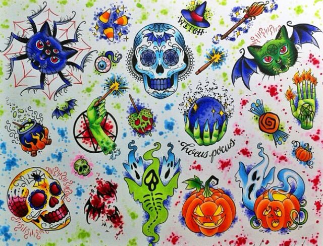 Halloween tattoo ideas | Tattoos | Pinterest | Tattoo ...