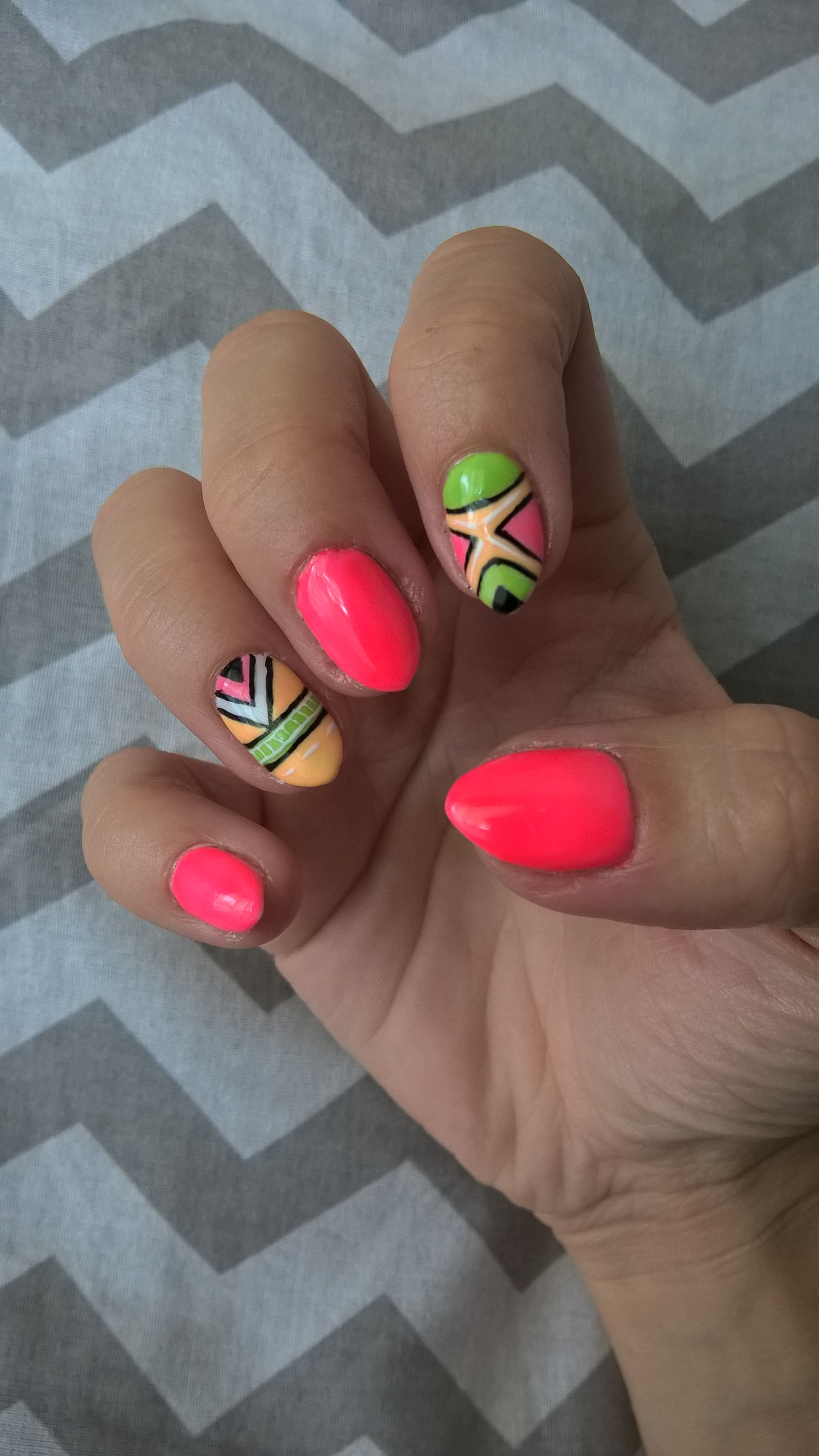 Neonowe Paznokcie Hybrydy Nails With Images Paznokcie