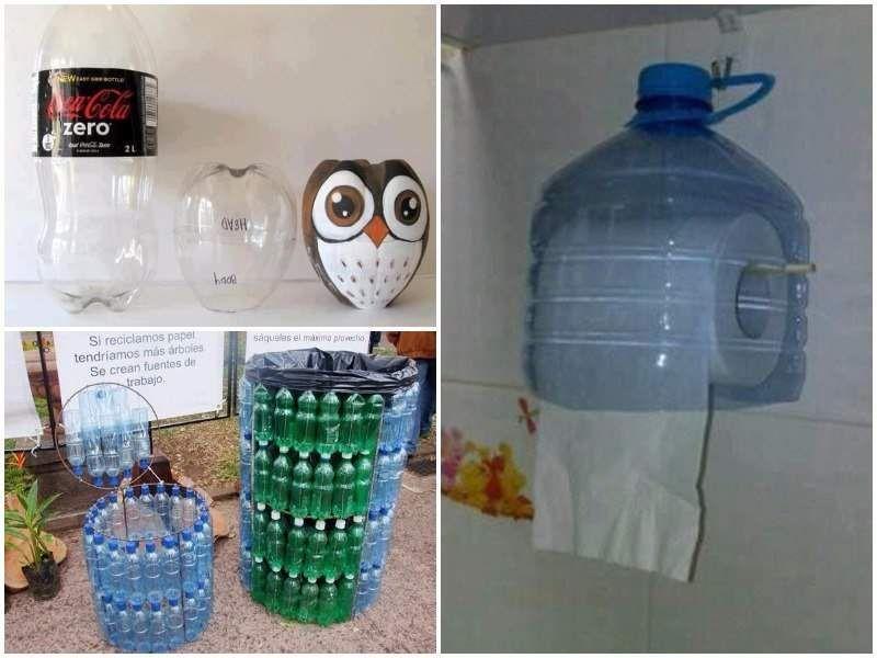 Reciclar botellas de pl stico 73 ideas originales - Manualidades con envases ...