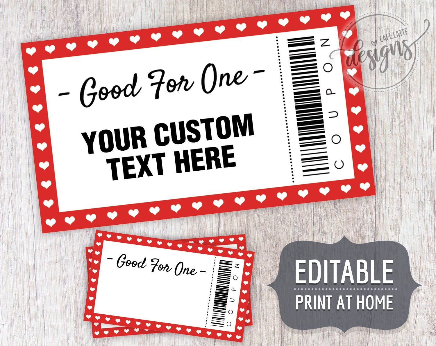 Valentines Day Editable Coupons Coupon Template Dad Mom Kids Etsy Coupon Template Coupon Book Coupon Book Diy