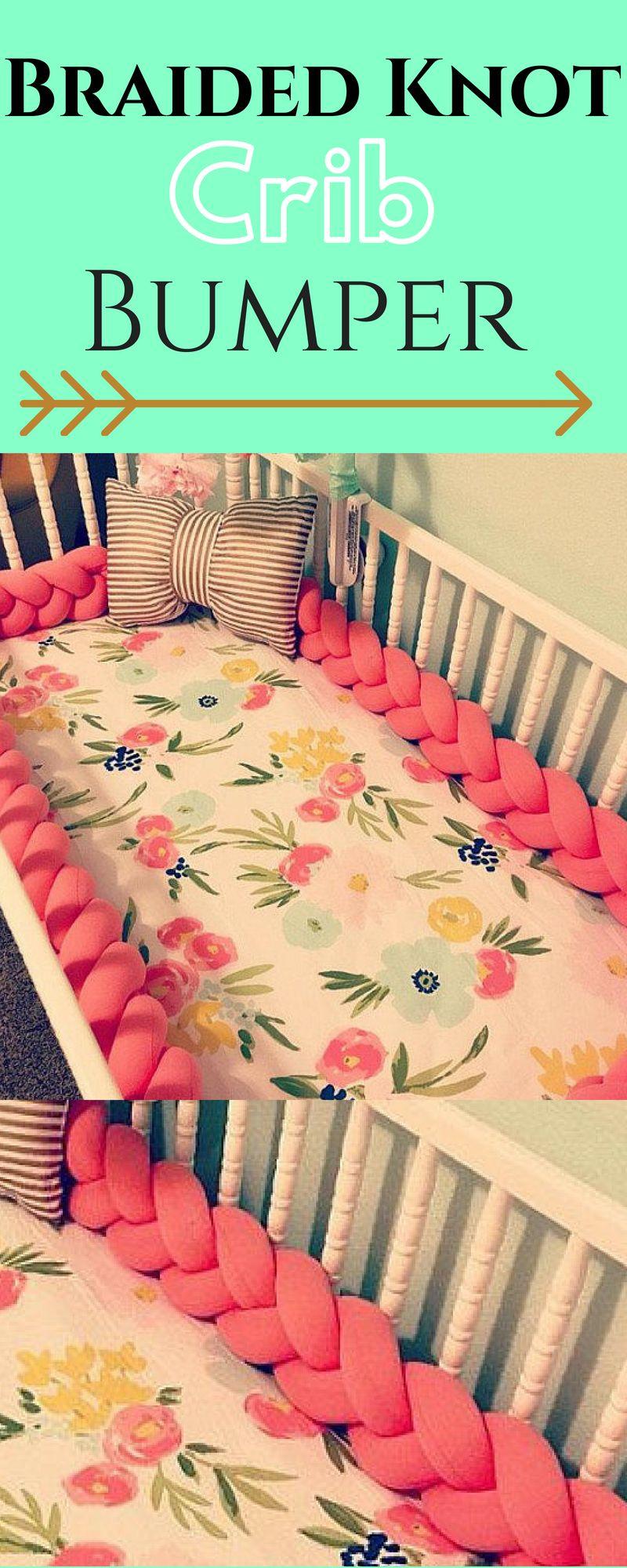 Braided crib bumper knot pillow knot cushion decorative pillow
