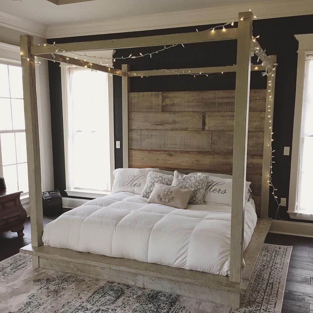 Dream sweet dreams under a RevivalSupplyCo wooden canopy