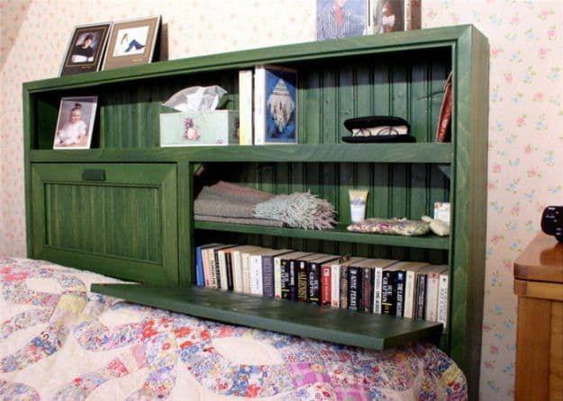 Kopfteil Bücherregal | DIY Bücherregal Ideen