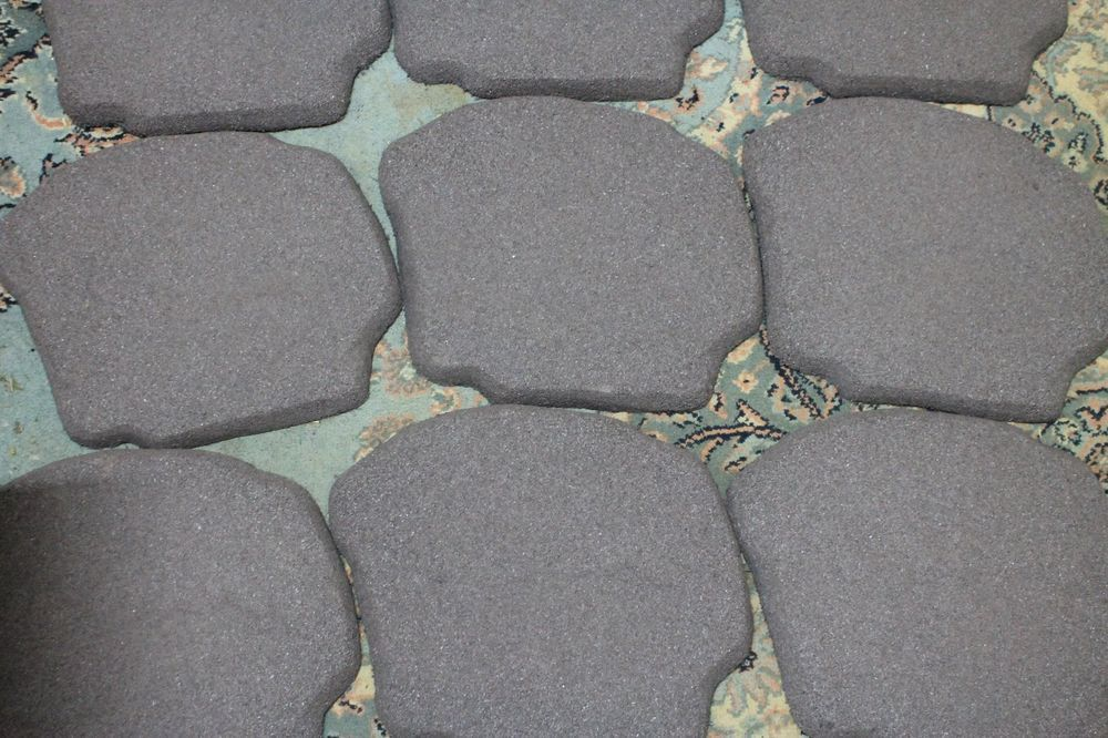 10 FLEXSTONE -STEPPING STONES FOR WALKWAYS- PATIO- VARIETY COLOR - RECYCLED TIRE #steppingstones