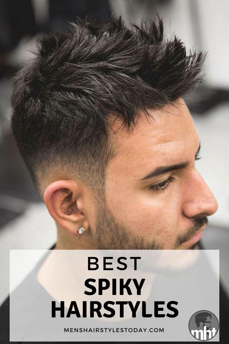 Short Spiky Hair Fade Best Mens Spiky Hairstyles For The Best
