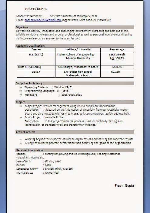 Sample Resume Format For Canada Jobs Curriculum Vitae Canada Sample Template Example Ofexcellent .