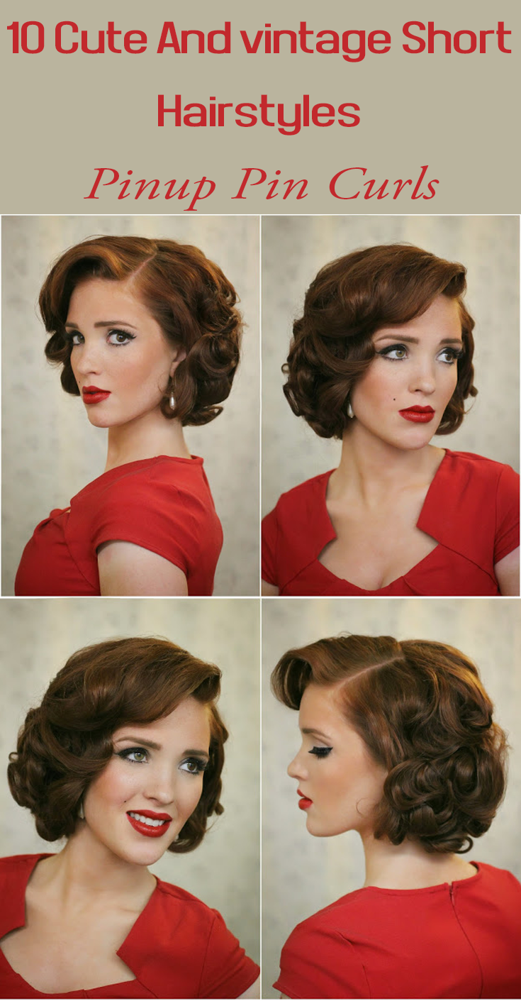 Cute And vintage Short Hairstyles Pinup Pin Curls are great for