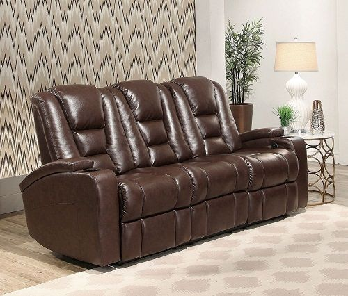 Abbyson Living Mastro Leather Home Theater Sofa $699 off
