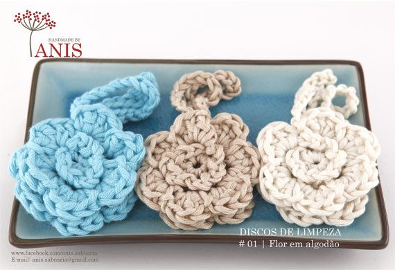 Flower cleansing disc - cotton on Etsy, $4.96
