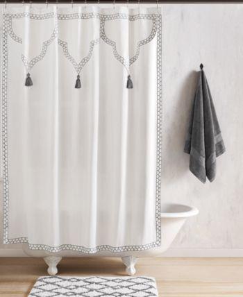 John Robshaw Iswar Shower Curtain Reviews Shower Curtains Bed Bath Macy S Curtains Large Shower Curtains Transitional Decor