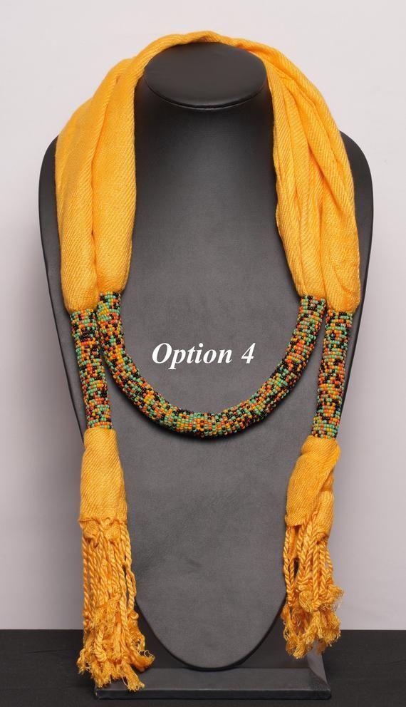 Shawl African beaded scarf beaded scarf scarf handmade | Etsy #Beaded