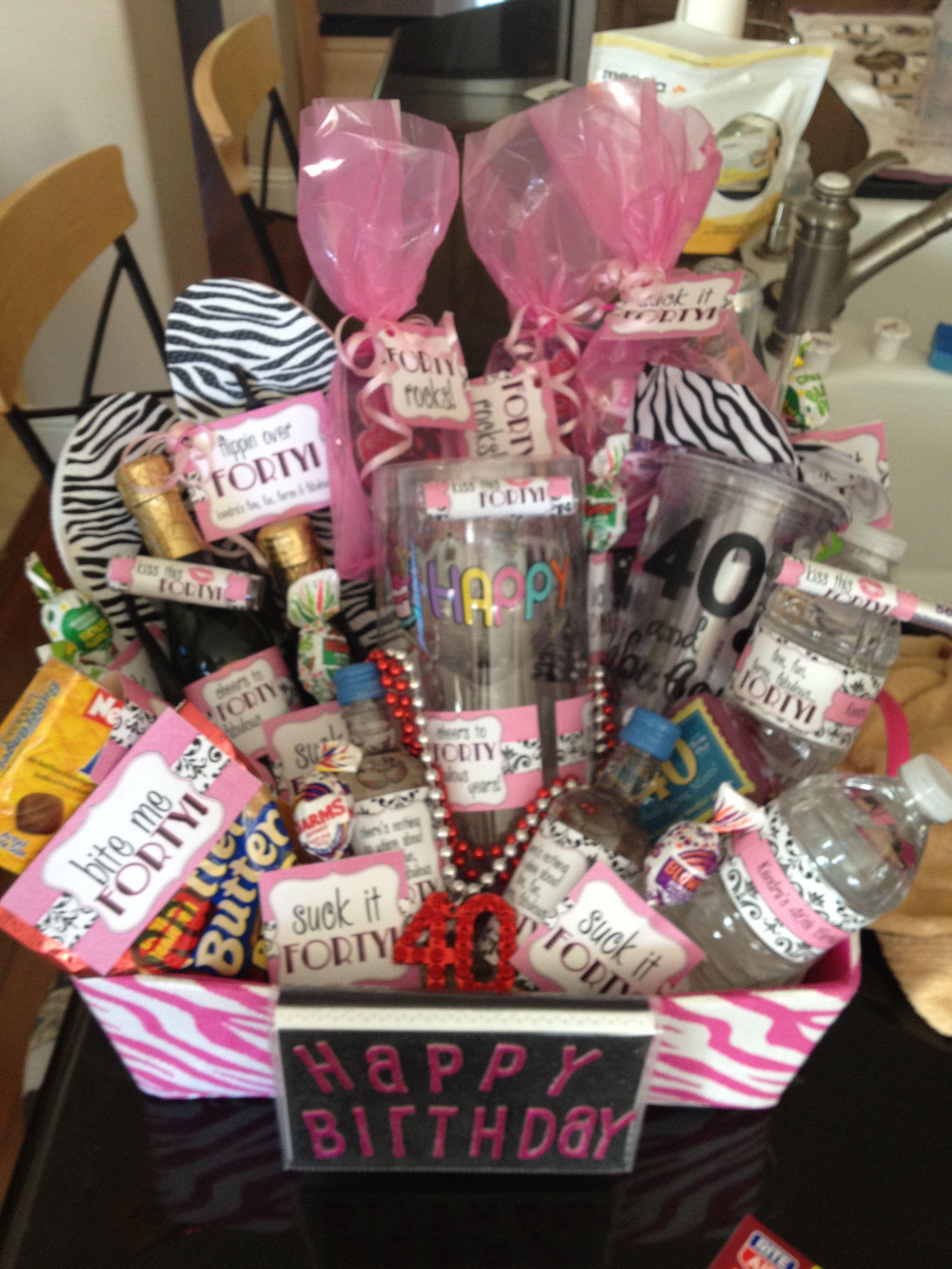 Beautiful 40th Birthday Survival Kit Gift Ideas Pinterest