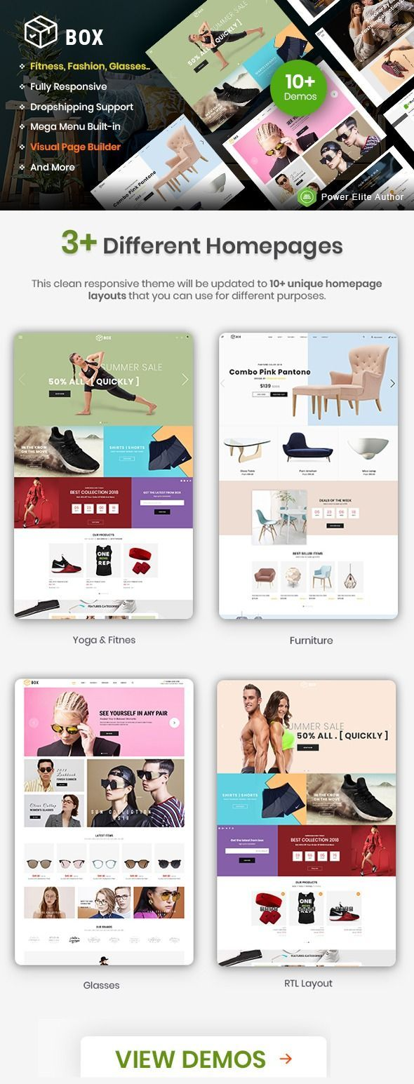 Box The Clean Minimal Multipurpose Shopify Theme With Sections 10 Homepages Shopify Theme Theme Responsive Theme