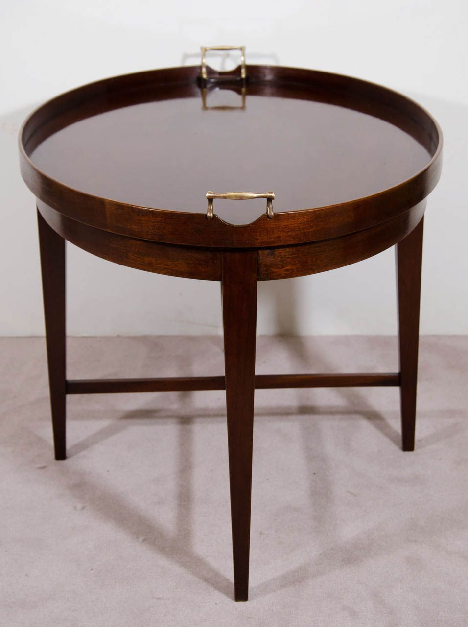 Mid Century Oval Shaped Coffee Or Cocktail Table By Baker Furniture Co