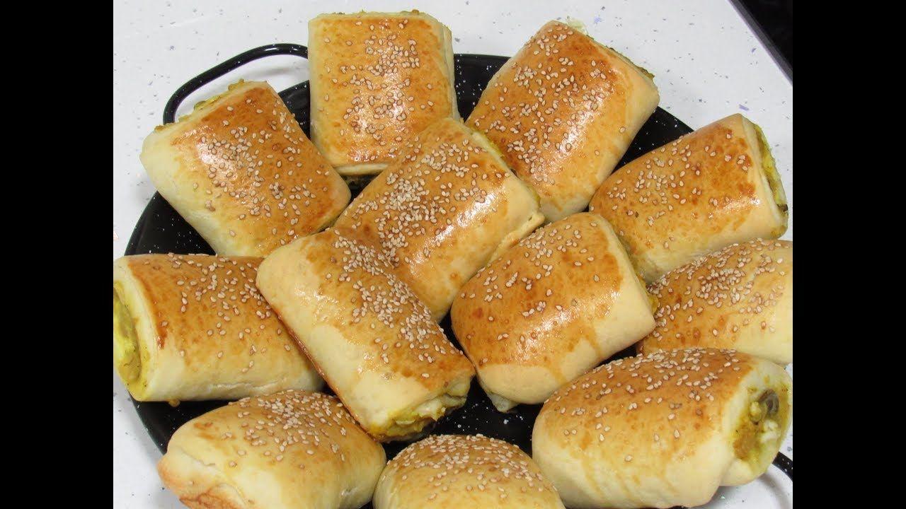 فطائر تركية بحشوة راائعة وعجينة قطنية الذ فطائر تركية شهية هشة ورطبة مث Hot Dog Buns Yummy Food