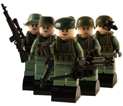 Modern Army - 5 Man Squad - Custom Lego Figures