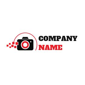 Red Square And Black Camera Logo Design Photography Logos Photography Logo Maker Logo Design