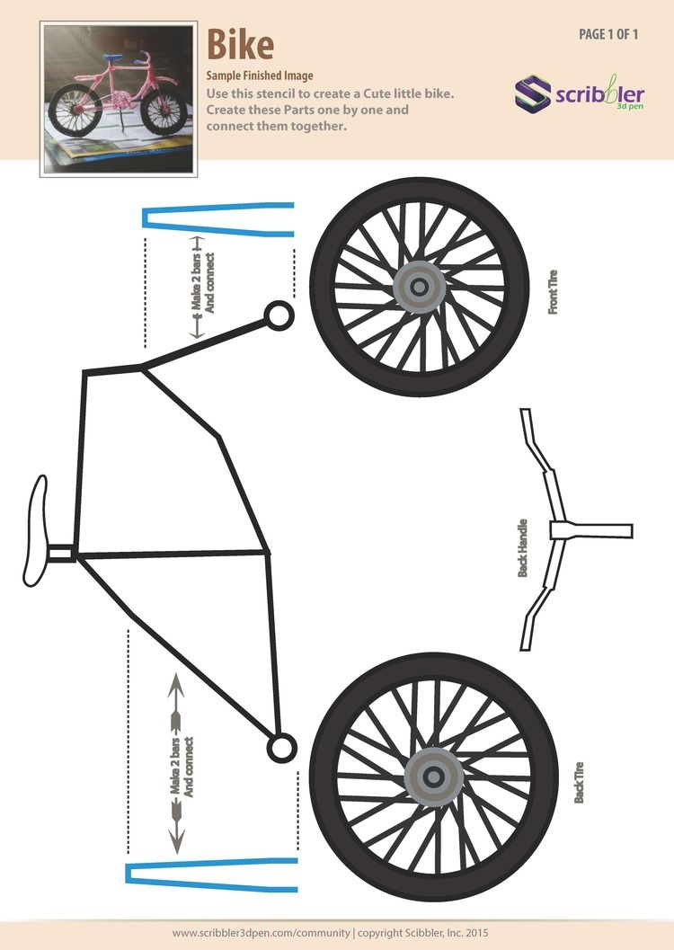 Bike Jpg 3d Pen Stencils 3d Drawing Pen 3d Pen