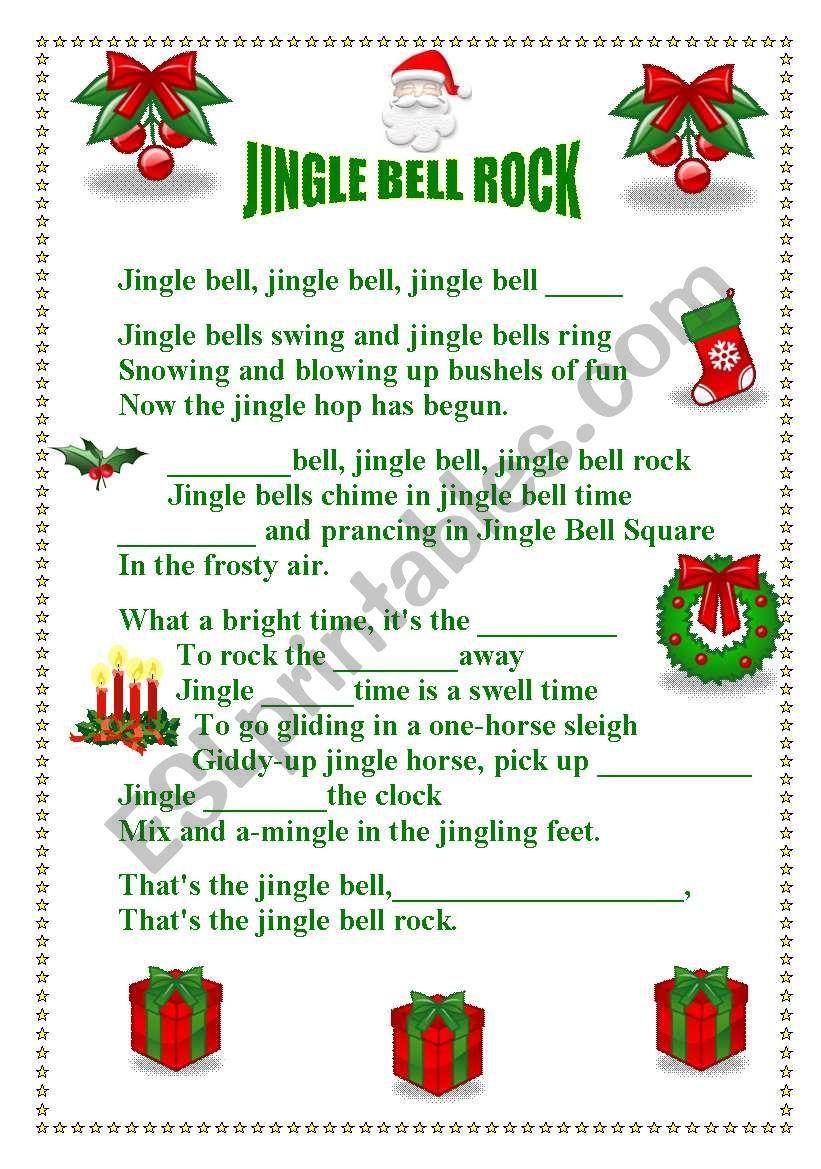 JINGLE BELL ROCK ESL worksheet by Teresa Alecrim Inglese