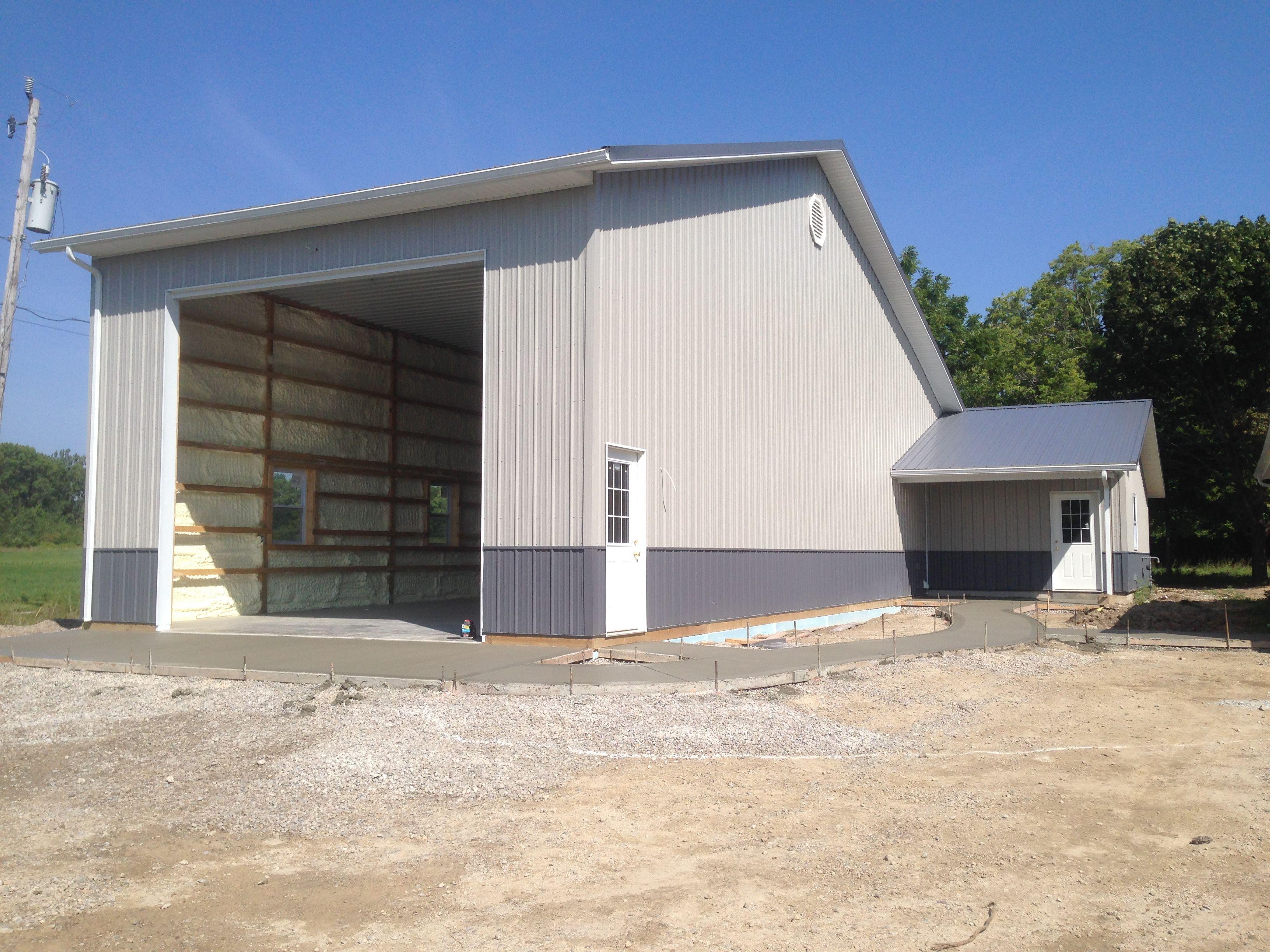 Storage Building Completed Near Oak Harbor. . . . . #storagebuilding  #polebuilding #atticalumber #polebarn #garage #storage Building