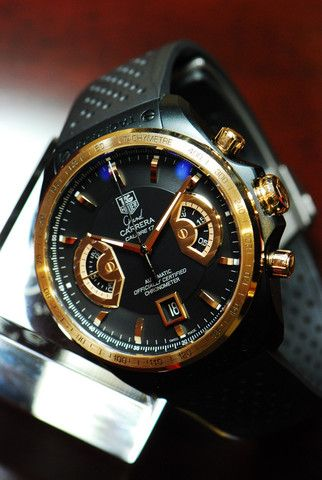 98817cd40b3 TAG HEUER GRAND CARRERA CALIBRE 17 RS2 CHRONOGRAPH 18K ROSE GOLD (Near Mint)
