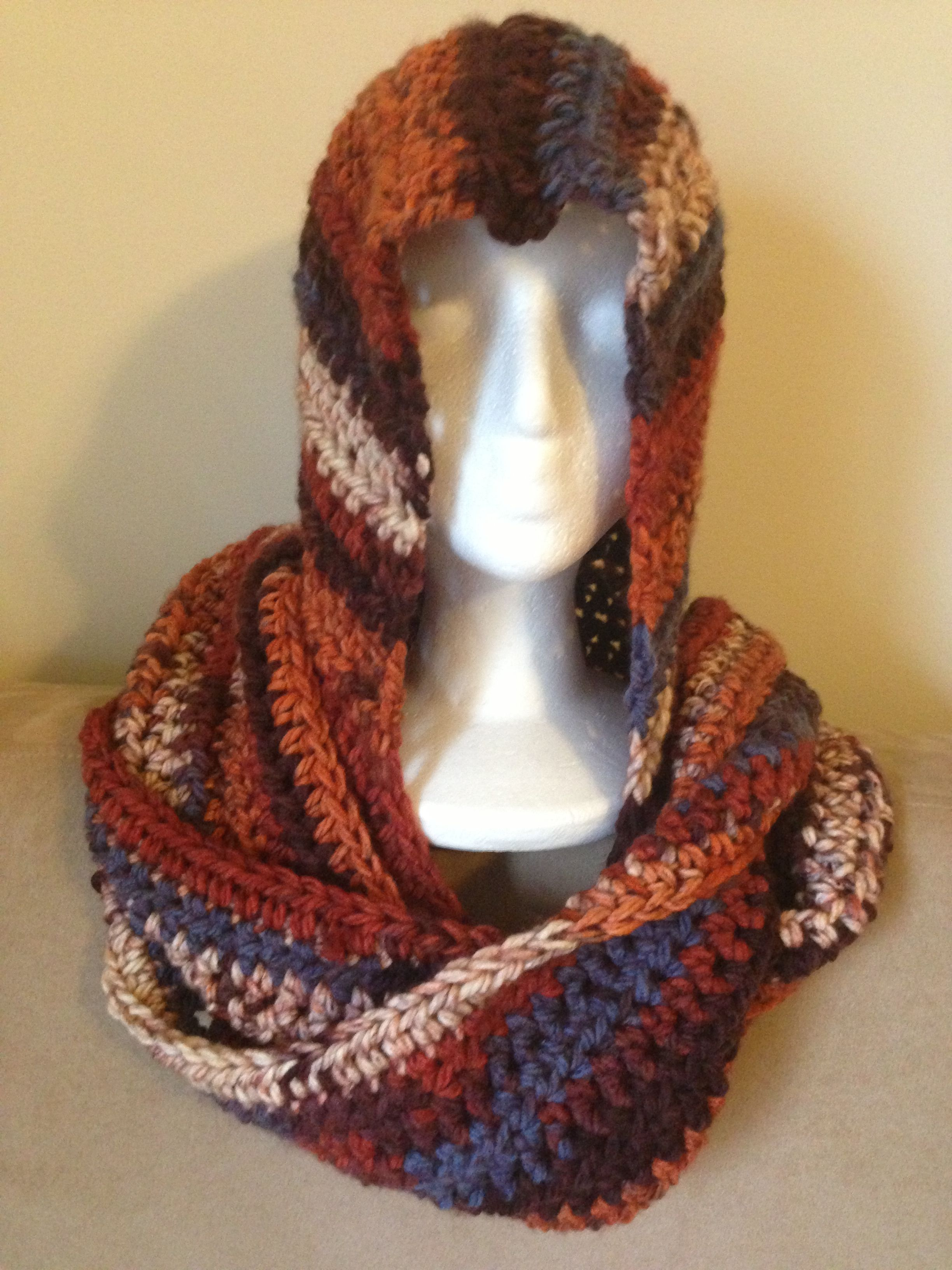 hooded scarf - half double crochet stitch | allen st. clair ...