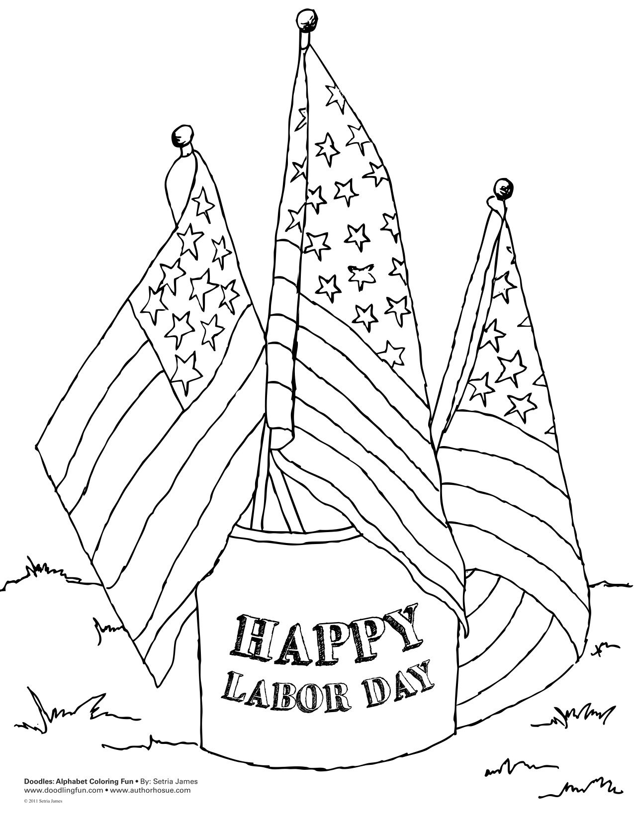 labor day coloring pages - Labor Day Coloring Pages Kids