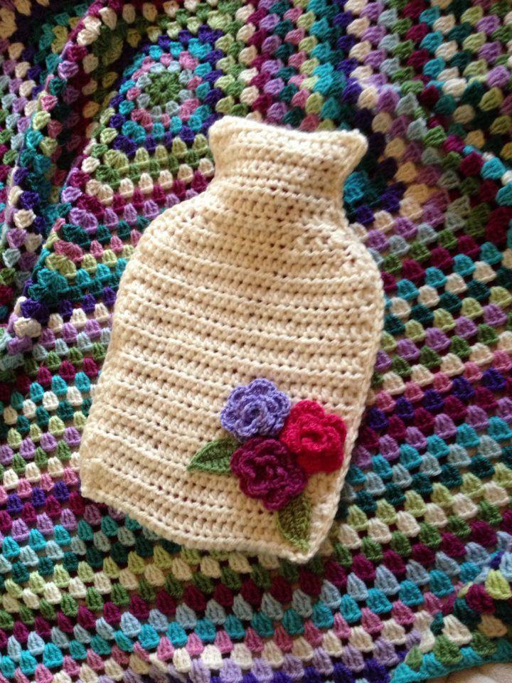Crochet Hot Water Bottle Cover Crochet Pinterest Water Bottle