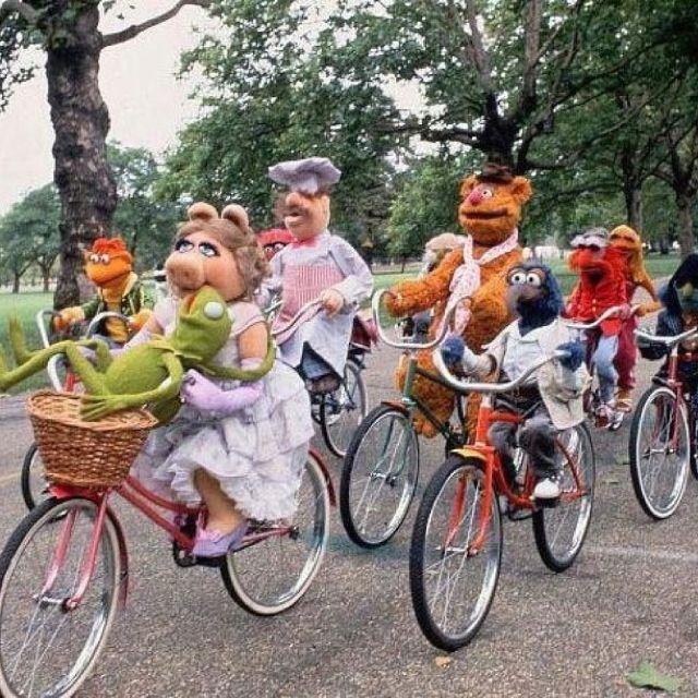 The Muppets Los Teleñecos La Rana Gustavo Triki El: Muppets In Bici
