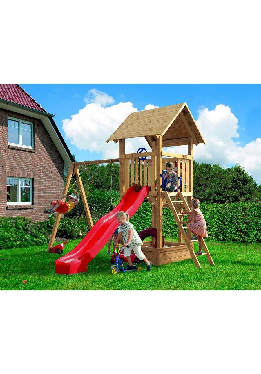 KARIBU Set 1 Spielturm »Hummel (mit 90 mm starken Pfosten