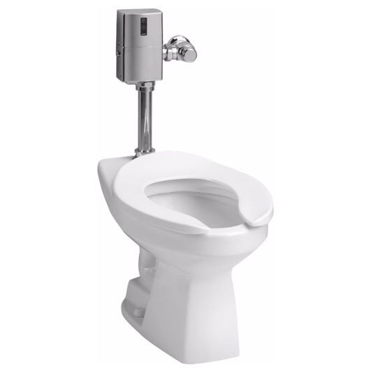 Toto Commercial Elongated Flushometer Toilet (Cotton White)