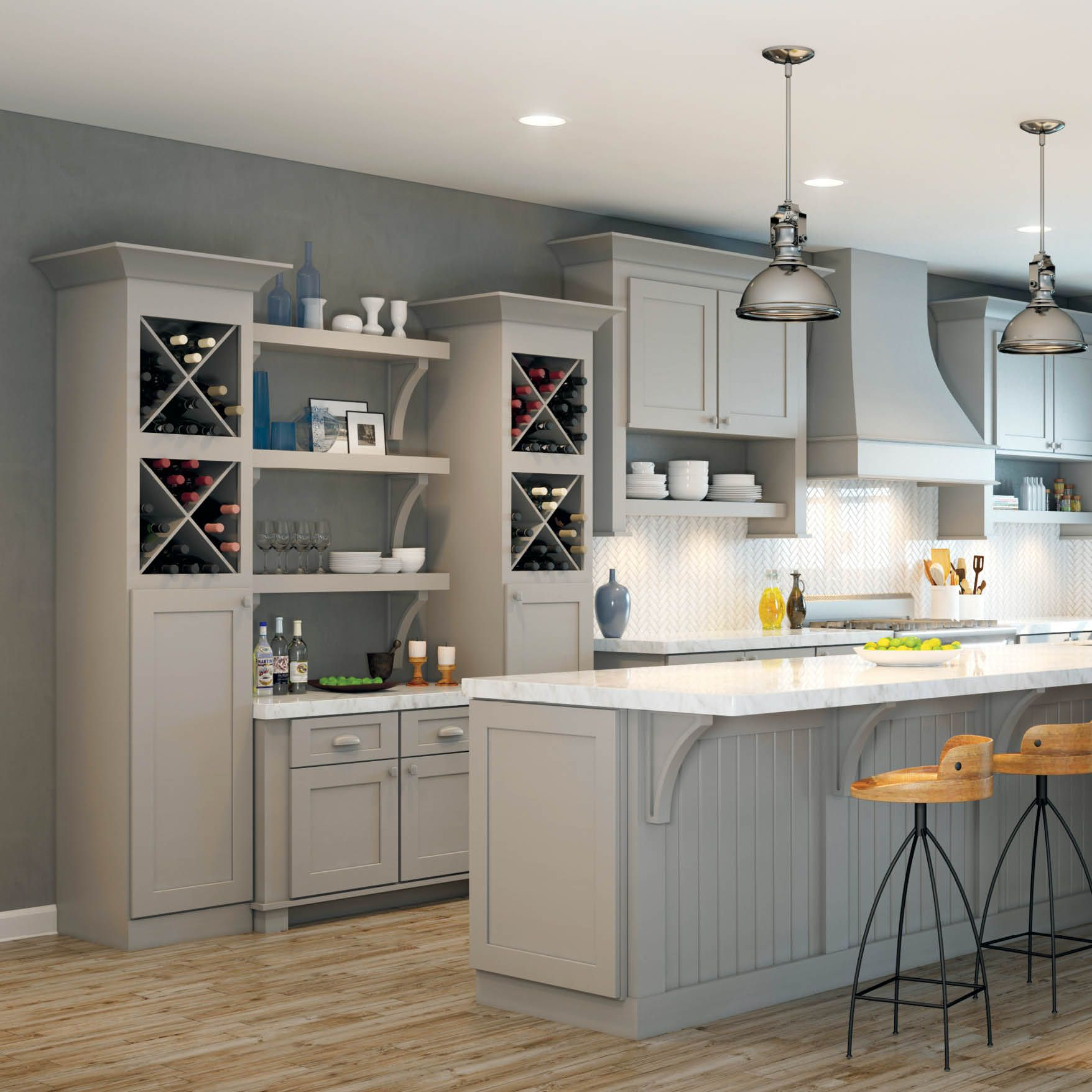 Just Add Friends This Beverage Bar Has All The Bells And Whistles In 650 Painted Stone Waypointlivingspaces Wine Bar Design Cabinet Doors Kitchen Cabinets