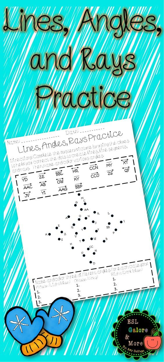 Geometry 4th Grade Practice (Lines and Angles) Math