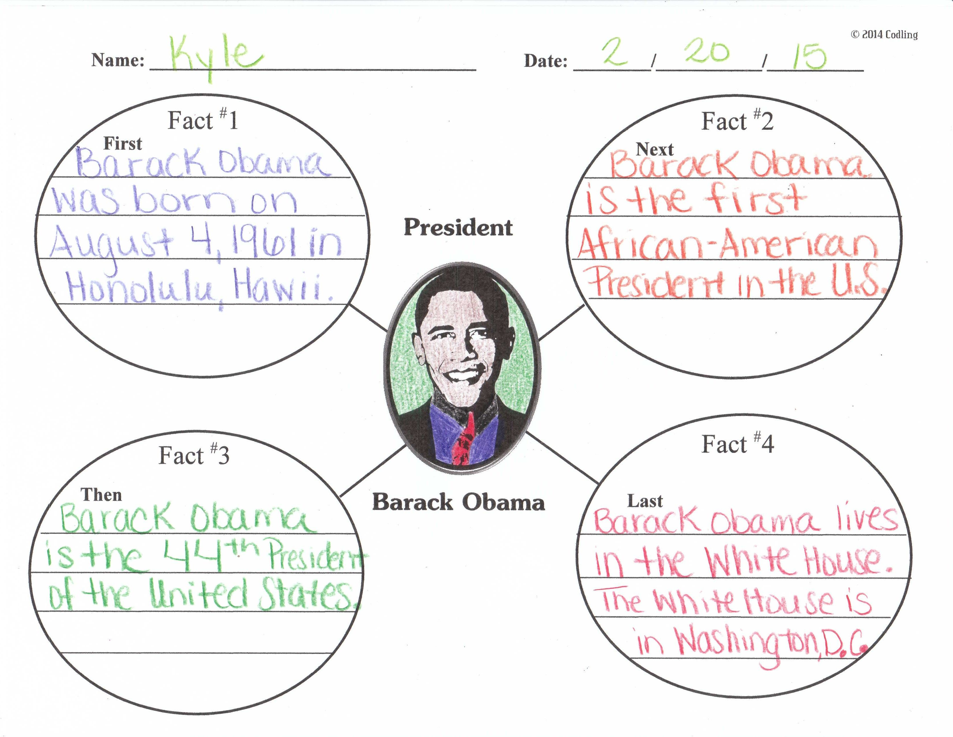 barack obama graphic organizer presidents u0026 elections