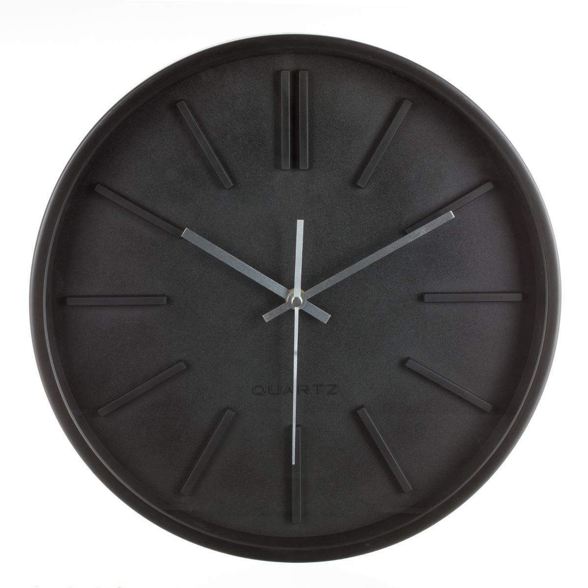 Okragly Czarny Zegar Scienny 35 Cm Quartz 7300655900 Oficjalne Archiwum Allegro Wall Clock Clock Home Decor