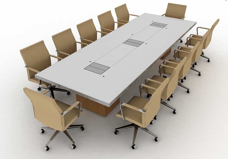 Wonderful Modern Exquisite Steel Conference Room Table Custom Built To Order