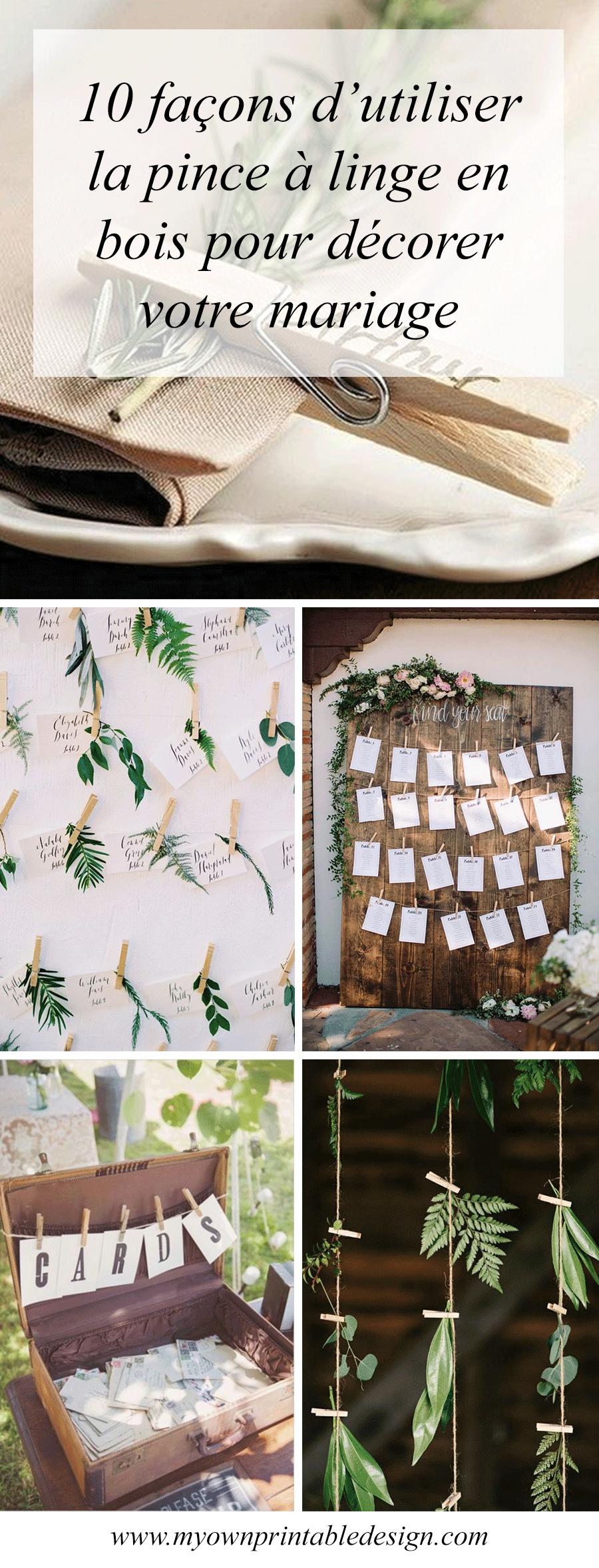 10 fa ons d utiliser la pince linge en bois dans votre d coration de mariage d co vegetale