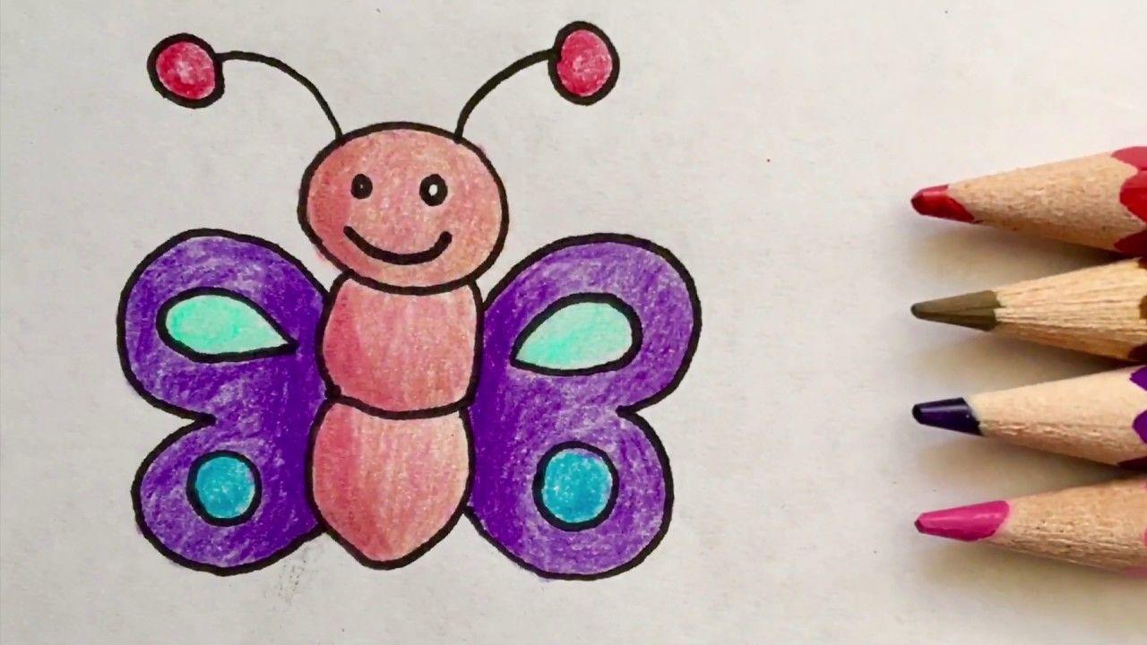 Nasil Kelebek Cizilir Kolay Kelebek Cizimi Easy Butterfly Drawing