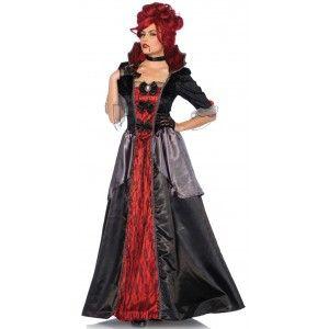 Leg Avenue Womens Floor Length Gothic Dress Costume