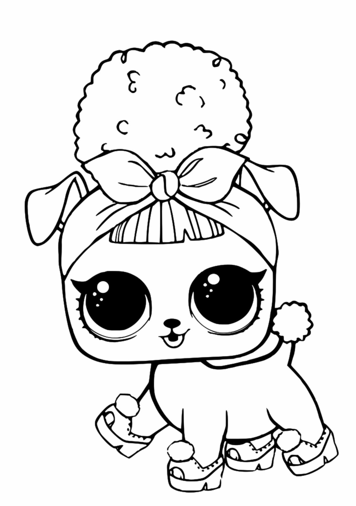 Lol Surprise Pets Coloring Page In 2020 Barbie Coloring Pages Lol Dolls Super Coloring Pages