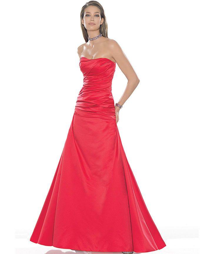 2021 Kadife Gece Elbiseleri Abiye Modelleri Kirmizi Kisa Straplez Onden Kucuk Yirtmacli Bodycon Elbise The Dress Elbise