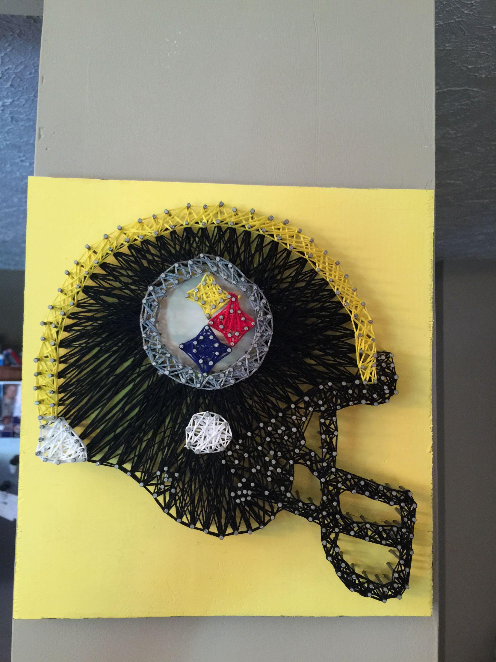 Steelers nail and string art | cute steeler stuff | Pinterest ...