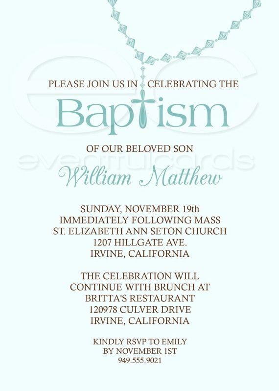 Baby Boy Baptism Invitation Baptism invitations, Baptism ideas and - best of sample invitation of baptism