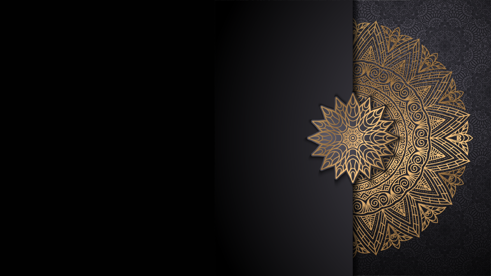 شريحة بوربوينت بزخارف إسلامية متعددة الاستخدام ادركها بوربوينت Black Hd Wallpaper Islamic Art Pattern Flower Background Wallpaper