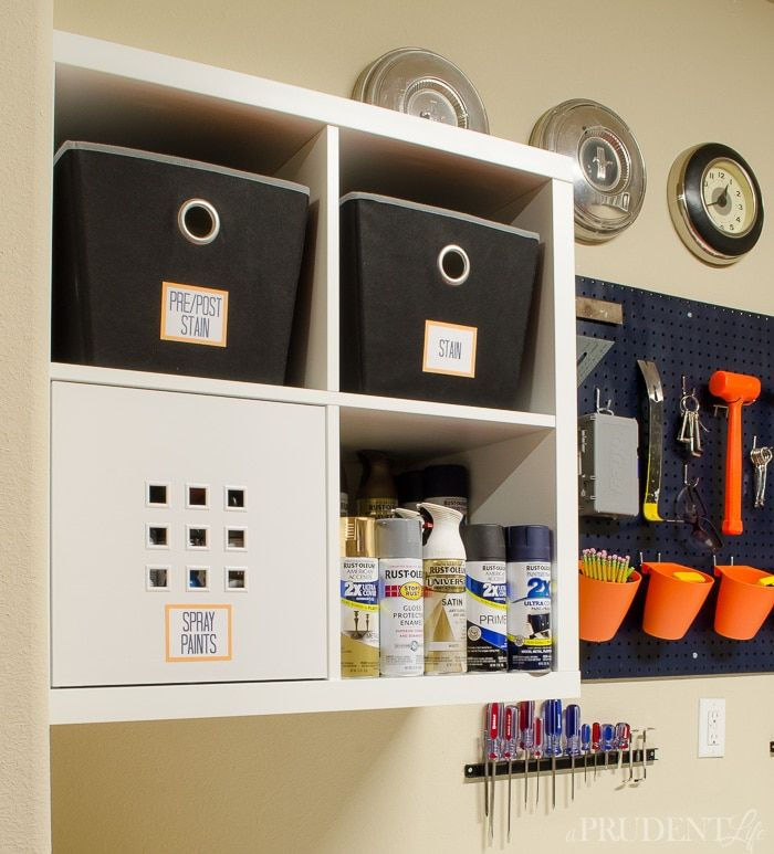 IKEA KALLAX Shelving Units Provide Tons Of Garage Storage