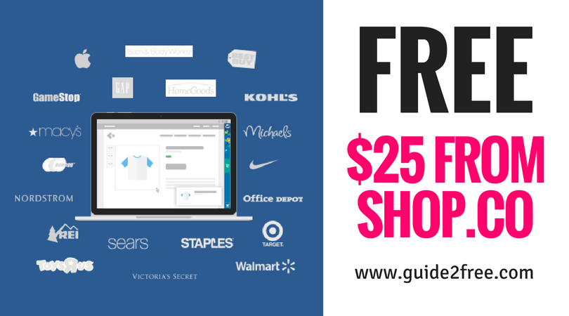 Free 25 From Shop Co Guide2free Samples Visa Gift Card Gift Card Free Money