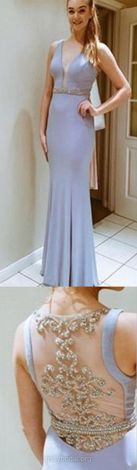 Blue prom dresses long prom dresses for teens sheathcolumn
