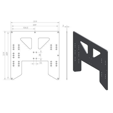 Anet A8 A6 Anodized Y Carriage Aluminum Plate Upgrade For 3d